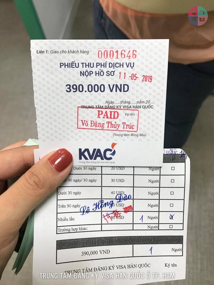 Chi phí xin visa Hàn Quốc 5 năm tại KVAC