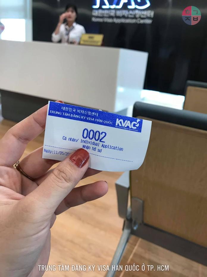 Giấy đăng ký lịch hẹn online xin visa Hàn Quốc 5 năm tại KVAC ở TP. HCM